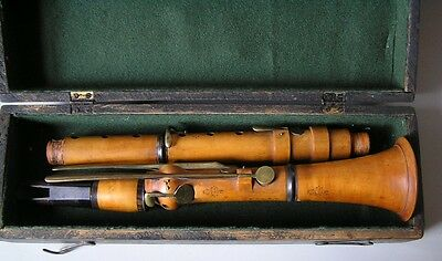 ANTIQUE MARTIN FRERES BOXWOOD CLARINET 1840 Cased
