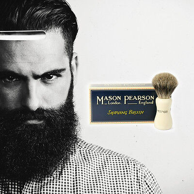 Mason Pearson SHAVING BRUSH Ivory - Pure Badger Or Super Badger CHOOSE OPTION
