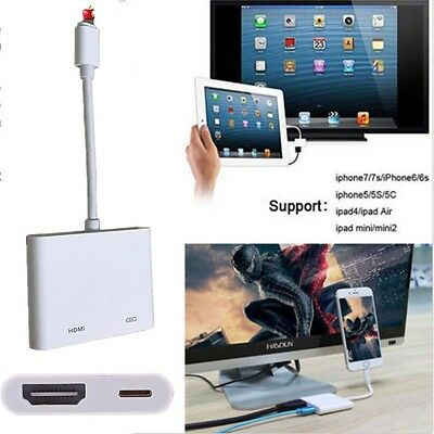 Lightning to Digital AV TV HDMI Cable Adapter For Ipad air iphone 6 6S 7 7Plus K