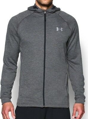 Under Armour Tech Terry Fitted Full Zip Mens Hoody - Grey