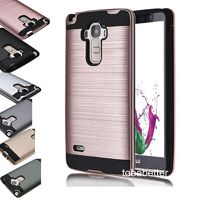 New Hybrid Brushed Shockproof Rugged Impact Armor Case Cover Skin For LG Phones