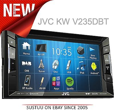 JVC KW V235DBT Car Stereo│Double DIN│DAB│Bluetooth│USB│Aux│iPod-iPhone-Android