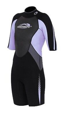 "Osprey womens Shorty Wetsuit Extra Small XS Chest 34"" H 155-160 Purple Lilac"