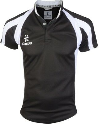 Kukri Classic Short Sleeve Junior Rugby Top - Black