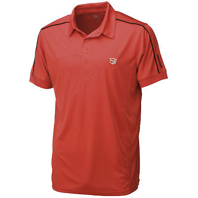 Wilson Staff Golf Herren Poloshirt Performance Perforation red / rot
