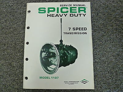 SPICER MODEL SST10 10 Speed Split Torque Transmission Shop