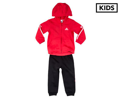 Adidas Toddler Sports Performance Hooded Jogger  - Pink/White