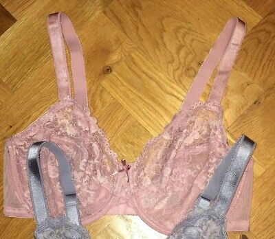 B.New Ex M&S All Over Lace Underwired Bra Sizes 32-42 B-DD Rose Pink