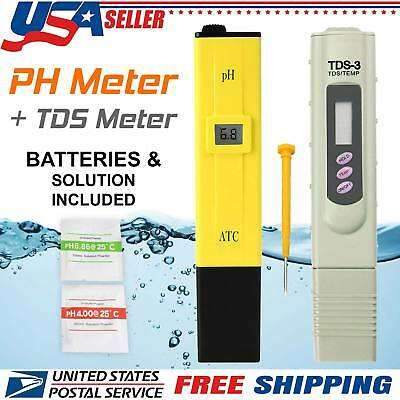 PH Meter + Digital TDS 0-9999 PPM Home Drinking Tap Water Quality Purity Tester