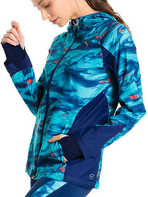 Puma Last Lap Graphic Ladies Running Jacket - Blue