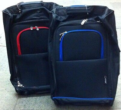 5 Cities Flight/Suitcase/Holdall/Boarding Bag on wheels *2 Colours* TB023