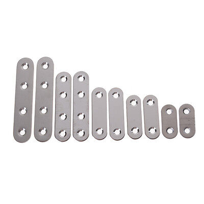 2x Stainless Steel Flat Corner Brace Fixed Angle Plate Connector Bracket