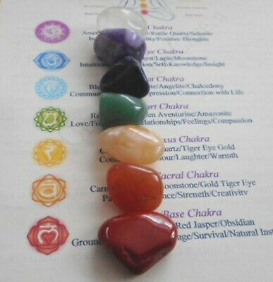 Chakra Healing Crystals 7 Colorful Gemstones  Chakras Reiki Healing Readings