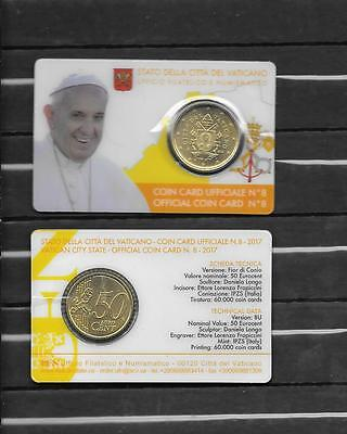 Vatican 2017  Pope Francis Official Coin Card # 8
