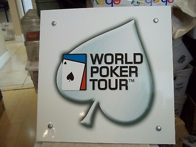 "World Poker Tour 1/8X181/4"" Laminated Foam Board Display Sign Man Cave Card Room"
