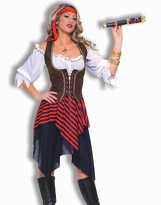 Sweet Buccaneer Sexy Pirate Wench Fancy Dress Womens Halloween Costume STD