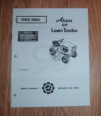 Mtd 133 390 133 395 lawn tractor owners manual illustrated parts ariens 8 hp lawn tractor owners manual illustrated parts list publicscrutiny Gallery