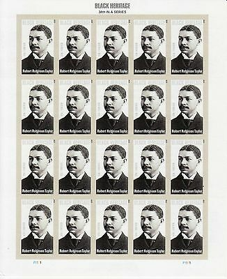 Robert Robinson Taylor Stamp Sheet -- Usa #4958 Forever 2015 Black History