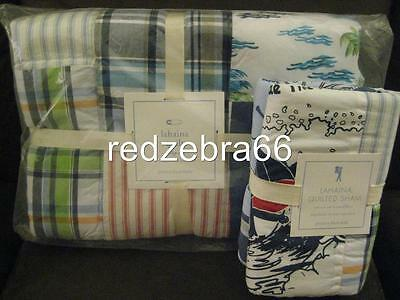 Pottery Barn Kids Lahaina Crib/Toddler Quilt Sham Set Blue Boy Key West