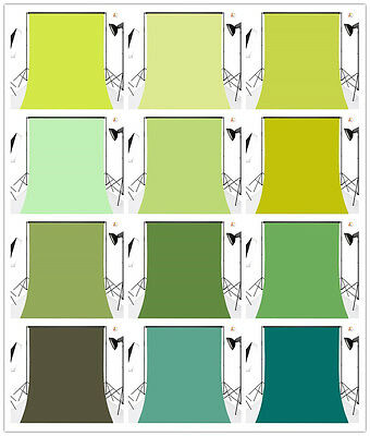 Solid Color Plain Green-Vinyl Custom Backdrop Photography Studio Prop Background