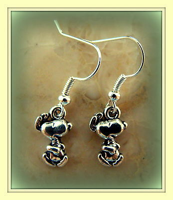 Happy Dancing SNOOPY EARRINGS Peanut's Jewelry - Charlie Brown's Dog SNOOPY