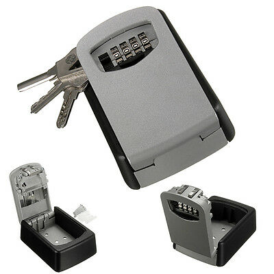 4 Digit Code Combination Key Safe Security Storage Box Lock Case Wall Mount US