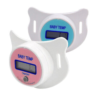Practical Nipple LCD Digital Mouth Nipple Pacifier Thermometer Baby Thermometer