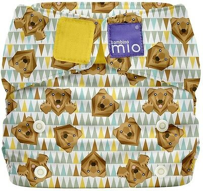 Bambino Mio, Miosolo All-In-One Reusable Baby Nappy Onesize Grizzly Bear Design