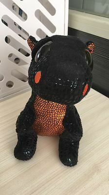 New Soft Toy From TY BEANIES BOOS Merlin The black and gold Dragon please read