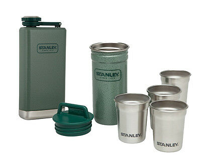STANLEY Adventure 236mL Hip Flask & Shot Glass Set - Green