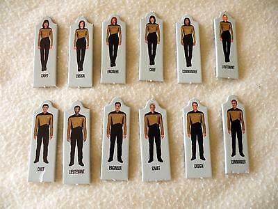 Star Trek Next Generation Video Board Game - 12 Playing Pieces + 6 Stands Only