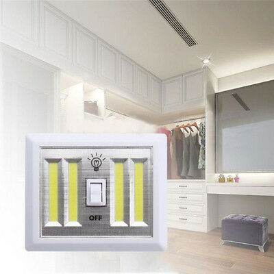 Wireless COB LED Wall Lighted Switch Operated Closet Night Light Lamps 2/4/6 pcs