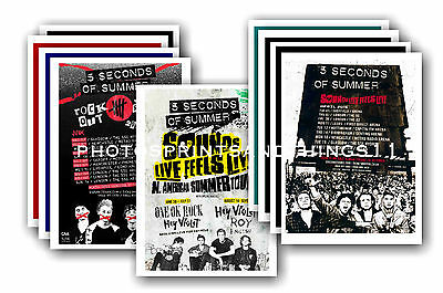 5 SECONDS OF SUMMER  - 10 promotional posters  collectable postcard set # 1