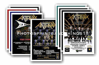 ANTHRAX  - 10 promotional posters  collectable postcard set # 1