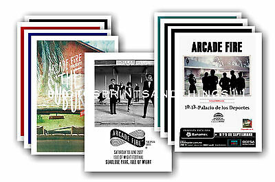 ARCADE FIRE  - 10 promotional posters  collectable postcard set # 1