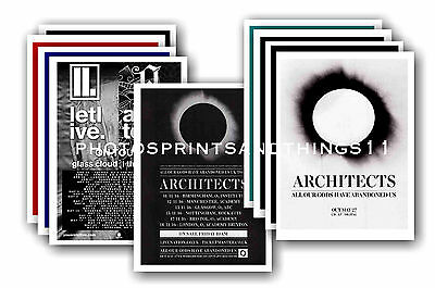 ARCHITECTS  - 10 promotional posters  collectable postcard set # 1