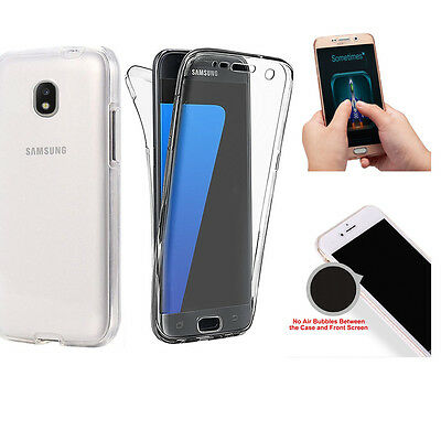 Slim 360° Front and Back Full Body TPU Silicon Case Cover For Samsung J5 2017 EU