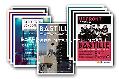 BASTILLE  - 10 promotional posters  collectable postcard set # 1