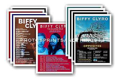 BIFFY CLYRO  - 10 promotional posters  collectable postcard set # 1