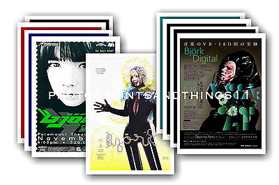 BJORK  - 10 promotional posters  collectable postcard set # 1
