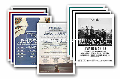 BOMBAY BICYCLE CLUB  - 10 promotional posters  collectable postcard set # 1