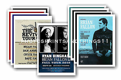 BRIAN FALLON  - 10 promotional posters  collectable postcard set # 1