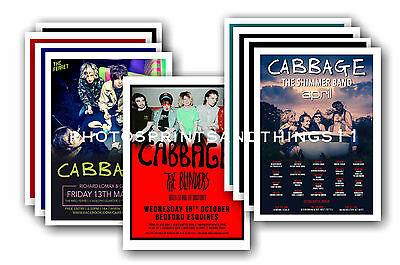 CABBAGE - 10 promotional posters  collectable postcard set # 1
