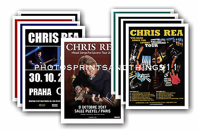 CHRIS REA - 10 promotional posters  collectable postcard set # 1