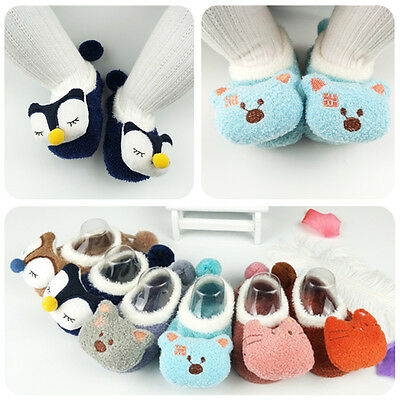 Baby Socks Anti Slip Animal Cartoon Shoes Soft Winter Warm Kids Indoor Socks