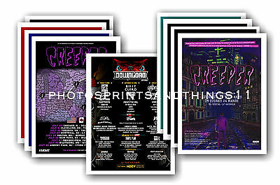 CREEPER - 10 promotional posters  collectable postcard set # 1