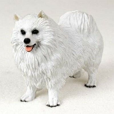 SAMOYED Dog HAND PAINTED FIGURINE Resin Statue COLLECTIBLE White Puppy NEW pet