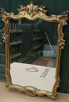 Fancy Looking Large Old Gilt Framed Wall Mirror