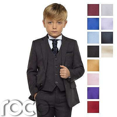 Boys Grey Suit, Page Boy Suits, Boys Wedding Suit, Boys Check Waistcoat