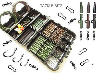 Carp Fishing Tackle Box Weight safety Lead Clips Hooks Swivels for Hair Rigs